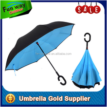 Hand Free Double Layer Standing Reverse Umbrella