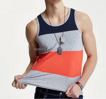 latest design color combination mens casual tank tops