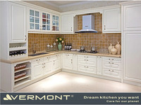 PVC Pressed MDF Laminate Kitchen Cabinet