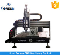 Small size FS6090A wood cnc engraving cutting machinery, aluminum milling machine for sale