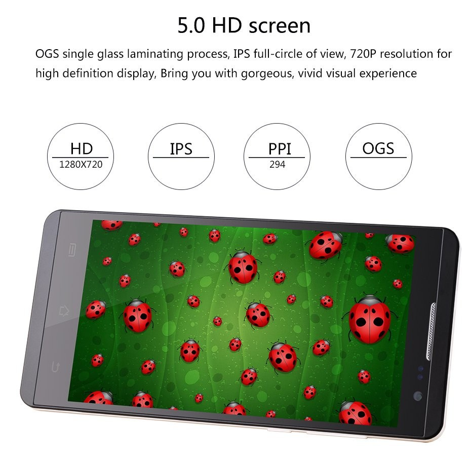 Jiayu F2 5.0Inch Android 4.4 Quad Core Phone Unlocked Free Active Dual SIM HSDPA Phone