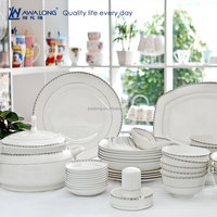 Plain Design Royal Style Fine Bone China Extra White High Quality Tableware Set, Hot Sale Royal Porcelain Tableware