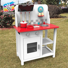 wholesale children pretend play wooden toy kitchen new educational wooden toy kitchen for boys W10C294