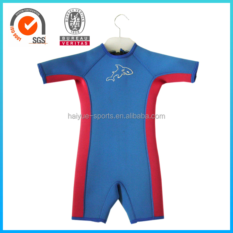 High Quality Short Sleeve Waterproof Baby Kids Neoprene Wetsuit