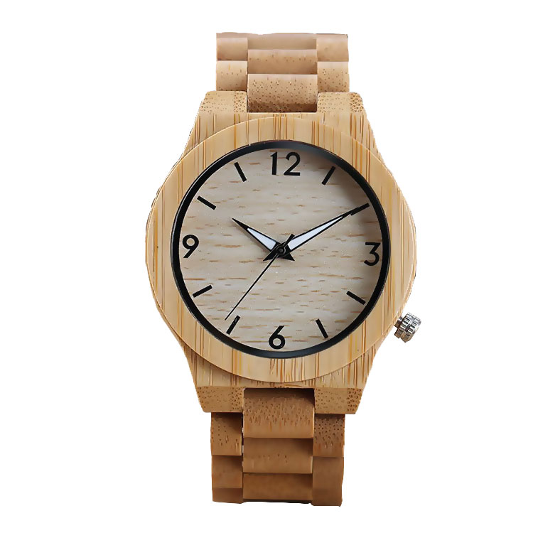 Hot sale brand your own watches japan movt quartz watch bamboo wood watch
