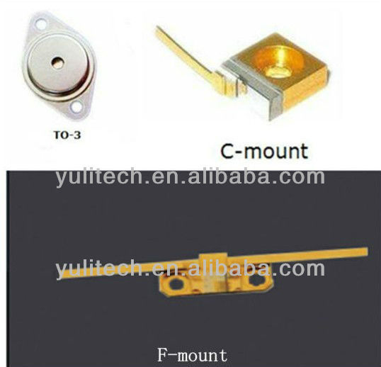 High/Low power 650 nm 40mW/500mw Laser Diode