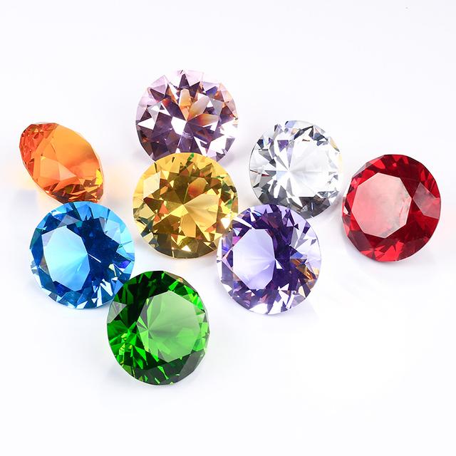 Purple Factory Sale Bulk Cheap Gifts Glass Crystal Diamond