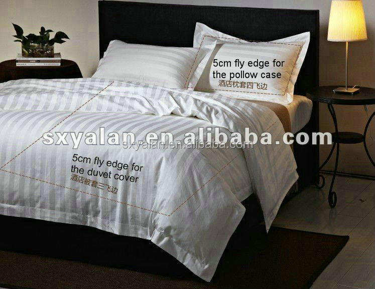 China suppliers wholesale hotel white cotton bedding set