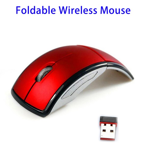 2016 New Design Portable 2.4GHz Foldable Wireless Mouse for laptop