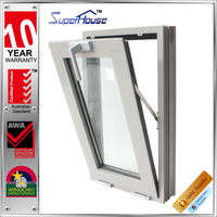 AS2047/2208 luxury vision enjoy thermal break double glass tilt&turn aluminum window in wholesale