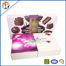 Custom recycled molded cardboard chocolate packaging box