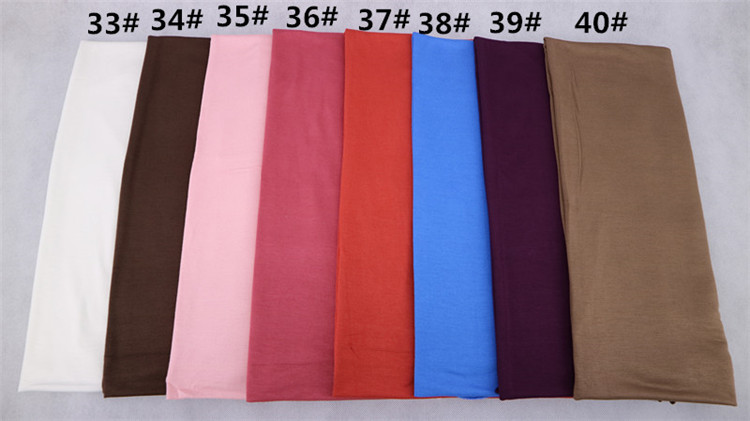 Gift for friends Daily life New arrival cotton jersey plain solid color hijab headscarf for women with great hand-feel