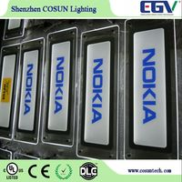 LED advertising signs for product display promotion acrylic crystal light box in mall outlets shop