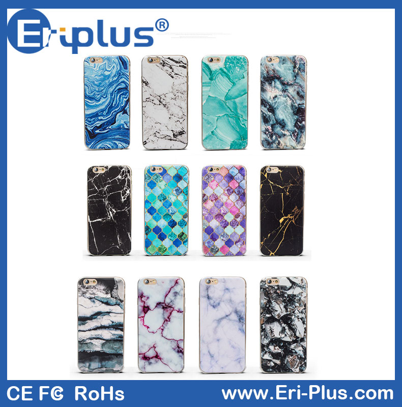 Soft TPU Marble Pattern Mobile Phone Case For iPhone 7 Marble Case