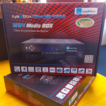 New arrival HD receiver jyazbox ultra hd V500 with jb200 8psk dvb-s2 ATSC tuner module wifi decoder better than jynxbox