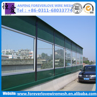 Made in China acoustic fence noise barrier/ noise absorbing panel/ noise barrier fence