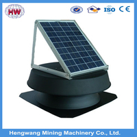 Energy saving solar power ceiling attic roof space ventilation with storage battery