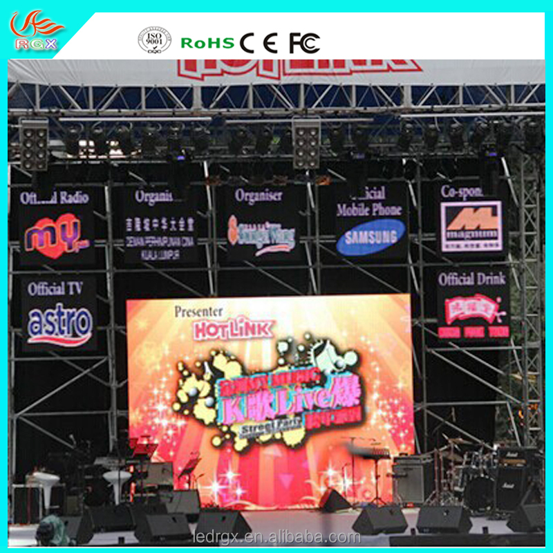 RGX 2016 new hot products on the market P5 outdoor rental led display free hot video