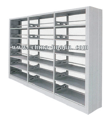 Modern Steel-Wood Combination Bookshelves / Used Library Bookcase/ Wooden Side Metal Book Shelf Double Sided Book Shelf