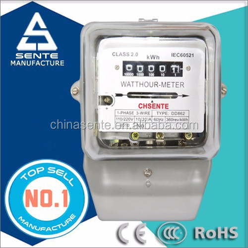 DD862 single phase active digital electric meter reverse