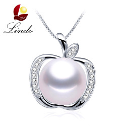 High-Grade Charm Fruit Design Pearl Jewelry Pearl Necklace Pendant 925 Sterling Silver Jewelry Fine Jewelry for Women