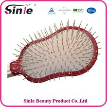 Top Quality Shape Colors scalp massager hair brush metal pins
