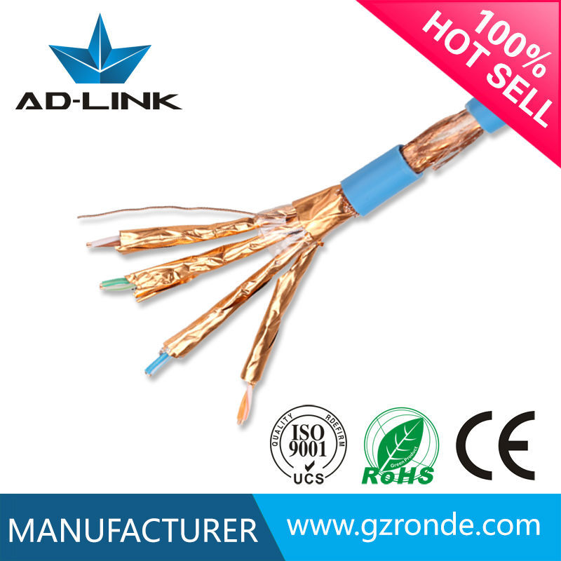4 pairs Twisted pair cable SFTP /SSTP 22AWG 23AWG cat 7 cable tester