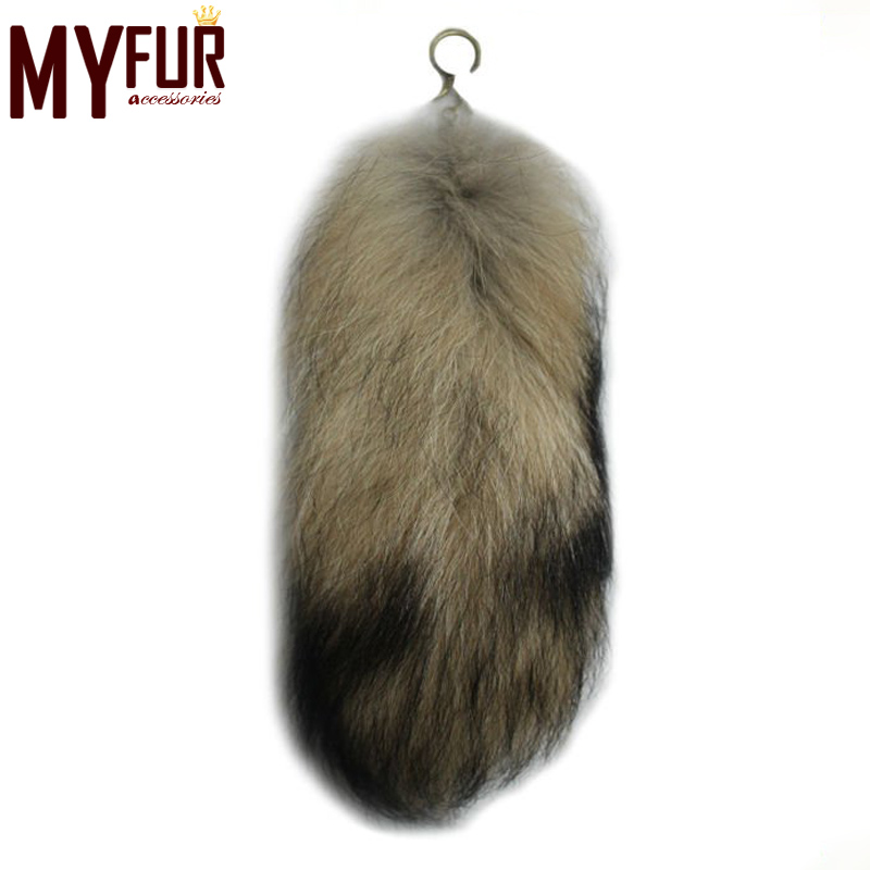 Raccoon fur tail for garments or handbags raccoon fur