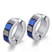 Wholesale Solid Stainless Steel Blue Oil Wide Clip On Earrings For Women Earrings Wholesale