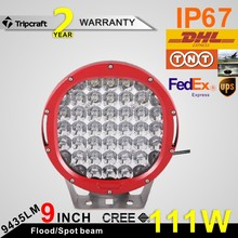 "Ip67 Outdoor 111w 9"" Led Work Light , crees chip led driving lights for motorcycle , auto parts"