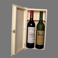 Customized Wooden Red Wine Box to hold Two Bottles