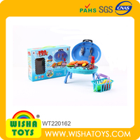 Kids Pretend Plastic Kitchen Toy Sets Cooking Tool With Light IC