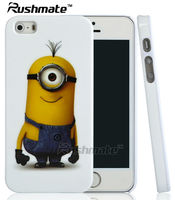 IMD Hard Cellphone Cover Protector For Iphone 5G 5S IMD Hard Cover Cellphone Despicable Me Minions Single PC Cartoon Mobile Case