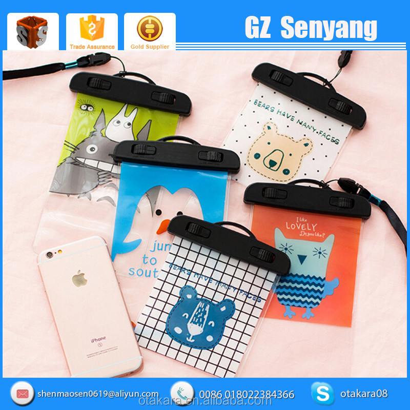 China Supplier PU Waterproof With Neck Strap Mobile Phone Case