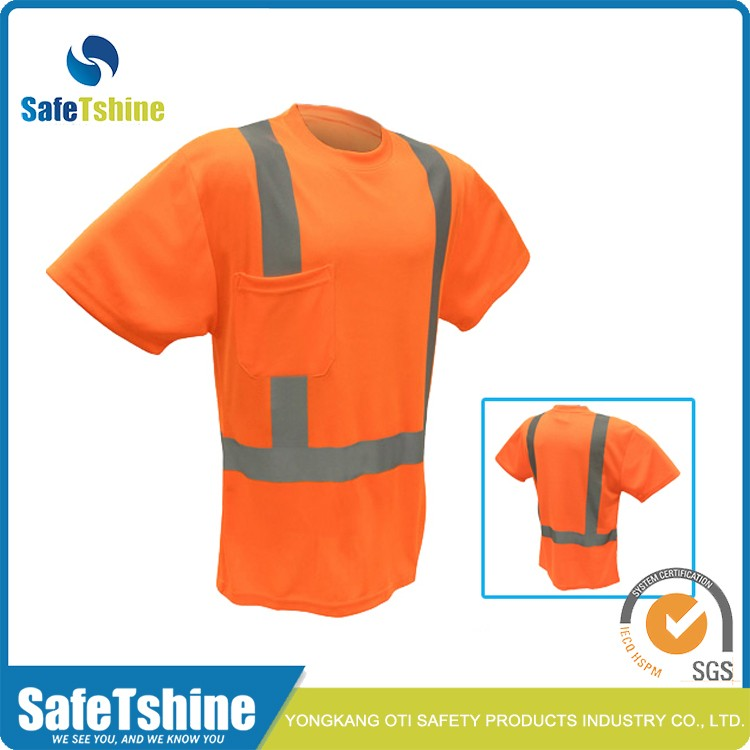 Hi vis good quality custom reflective safety shirt buy for Custom hi vis shirts