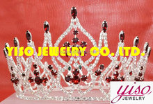 hair imitation colored jewelry luxury kids plastic king pageant crowns