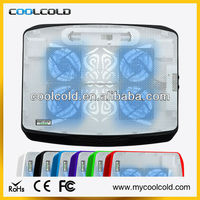 Coolcold ultra slim portable 4fans thermal cooling pad laptop