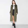 OEM design Autumn season Fashion Europe plain dyed long style women polyester jacket