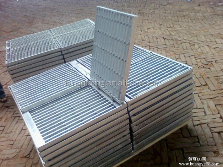 hot galvanizing carbon steel grating & grate & flooring drain trench cover