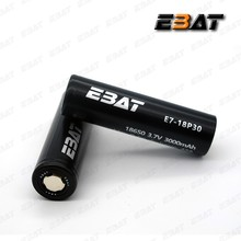 EBAT 18650 high drian flat top 18650 42A 3000mah rechargeable 18650 battery 3000mah cell