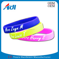 Personalised Custom Soft PVC Boy And Girl Friendship Bracelets Making
