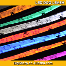popular led pet collar, bear led flash dog leash,led pet strap light for walking the dog at night cat disco DC-2507A