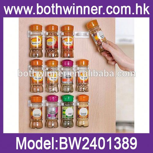 clips spice wall rack storage , TR082, wall mounted spice shelf