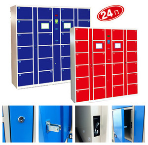 CE certified electronic beach locker with 24 boxes