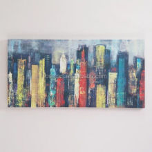 hand painted pictures on canvas bright color city buildings modern art styles oil paintings canvas painting buy online