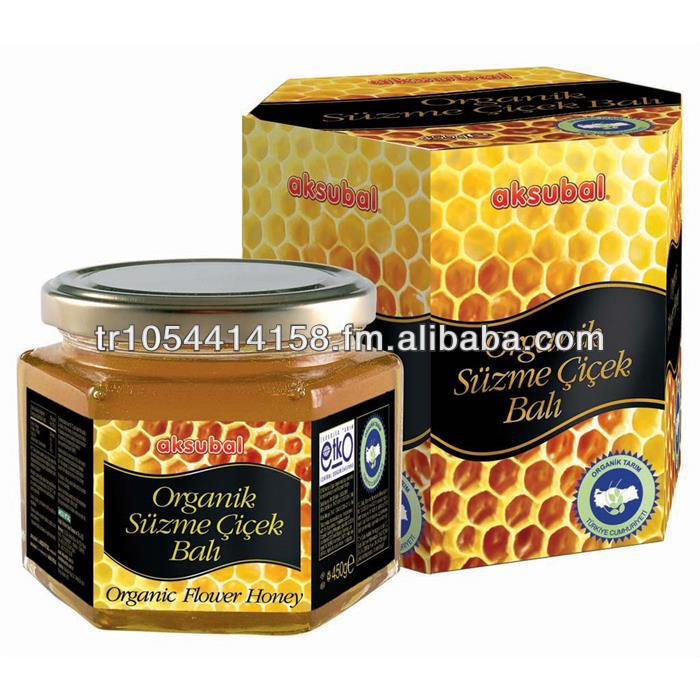 Organic Flower Honey 450 gr from Turkey Mature Honey