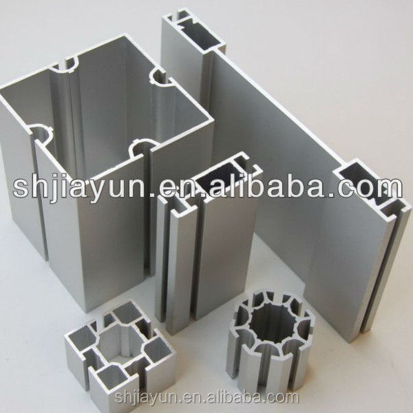 6063 extruded aluminum t slot profile for aluminium exhibition display with shop counter design