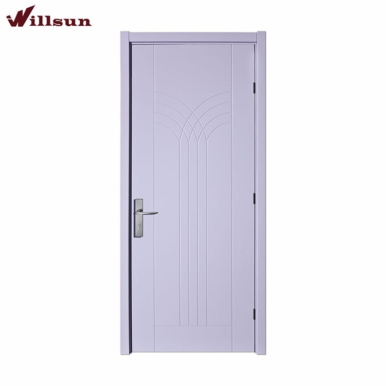 Low Price Wood Main Door Designs Flat MDF Wood Exterior Door Internal Panelled Doors