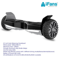 UL 2272 mating Hoverboard(6.5''+8.5'')Self Balancing Electric Scooter,Metallic Chrome mudguard ,with app & Bluetooth,LED flash