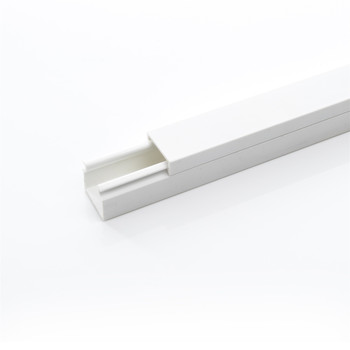 White Color Rohs Lead Free PVC Plastic Electrical Trunking Size